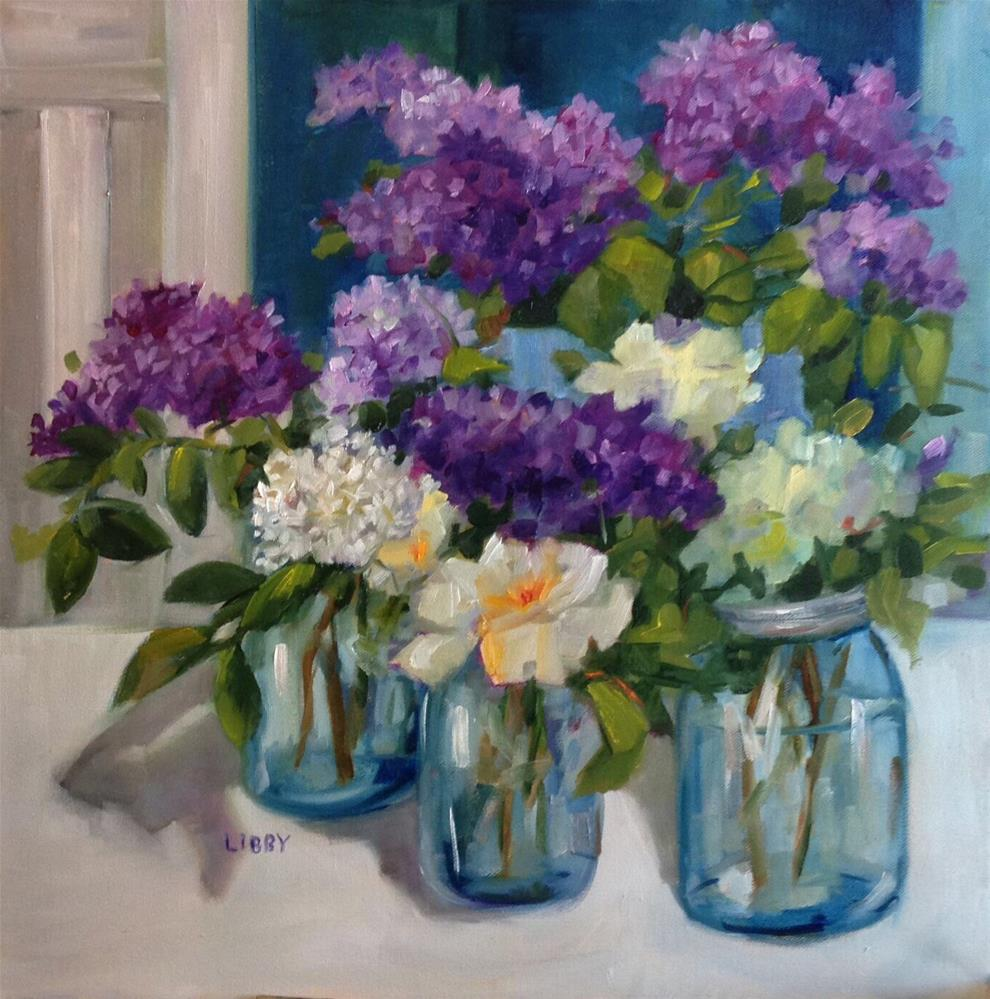 """""""Lilac Promise"""" original fine art by Libby Anderson"""