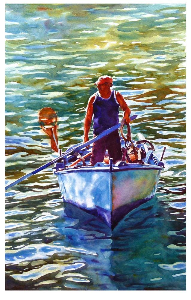 """Been fishing"" original fine art by Graham Berry"