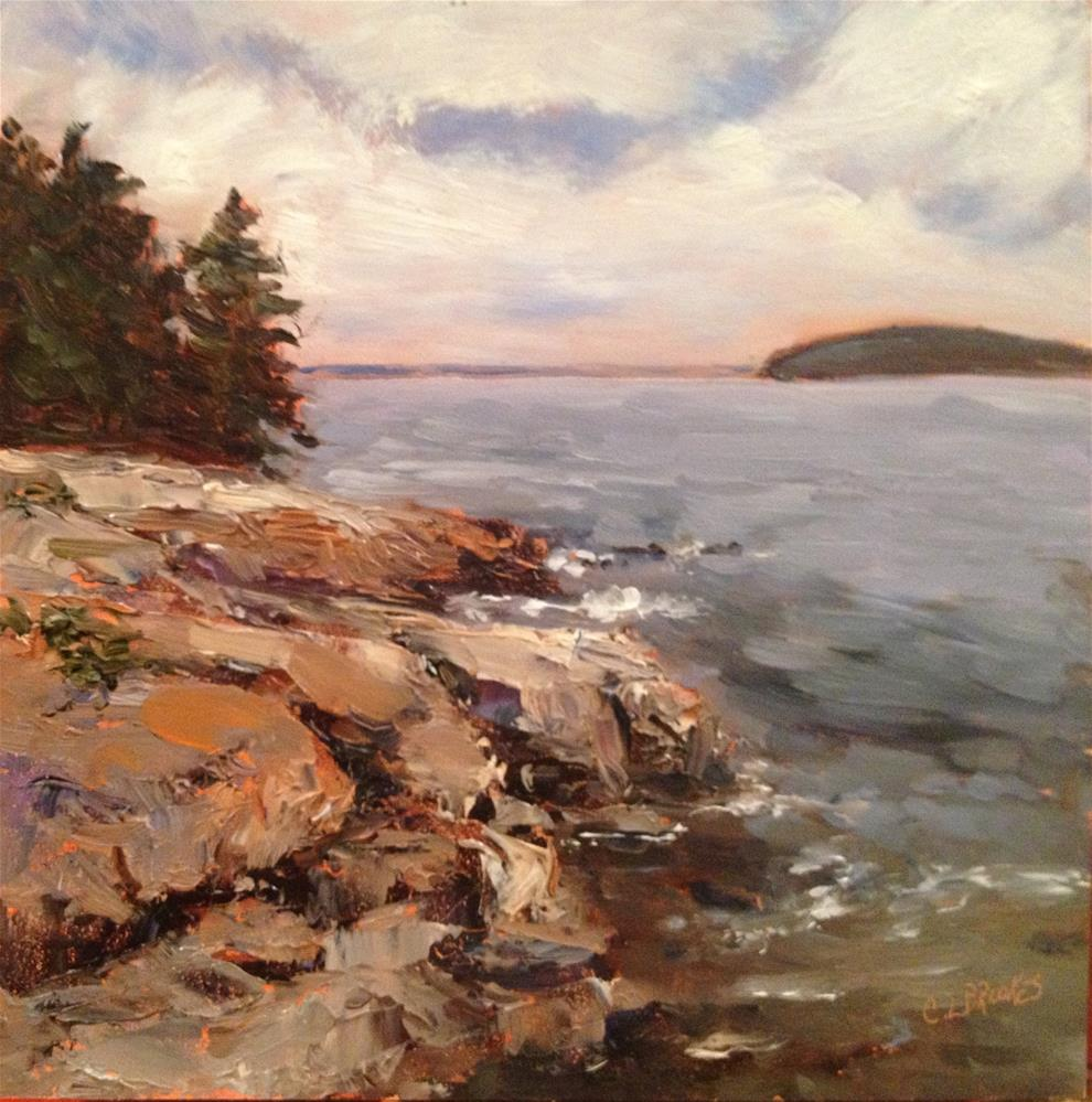 """Along the Shore Walk"" original fine art by Claudia L Brookes"