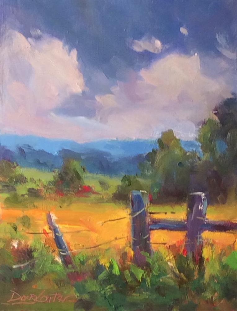 """""""OPEN FIELD"""" original fine art by Doug Carter"""