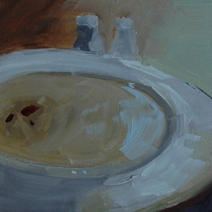 """LOBSTER BISQUE"" original fine art by Linda Popple"