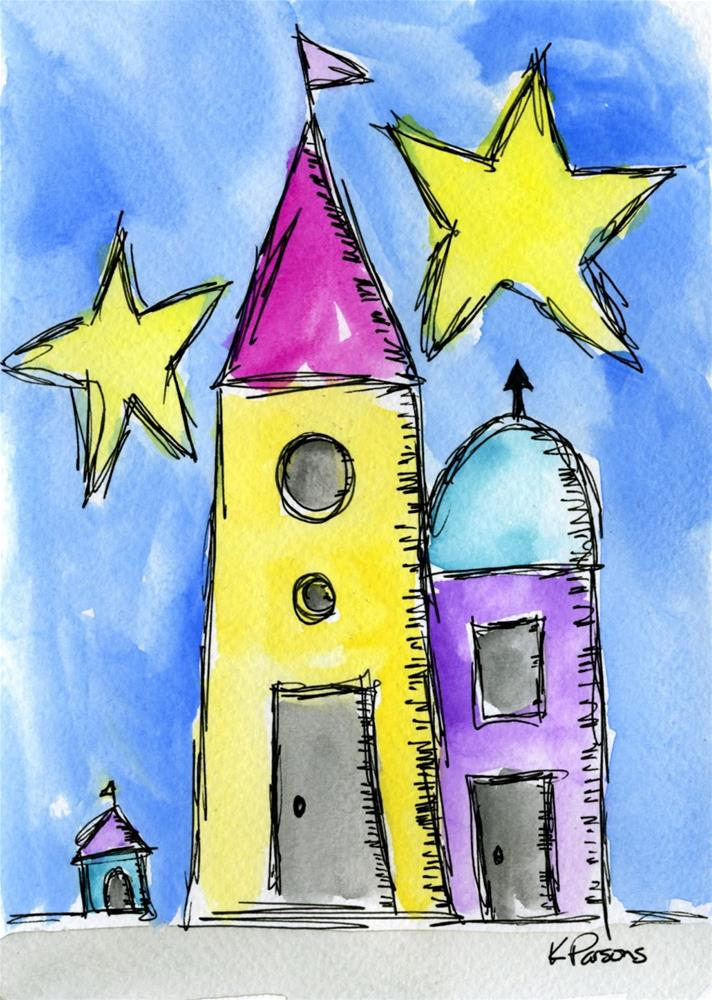 """Even Dogs Need Castles"" original fine art by Kali Parsons"