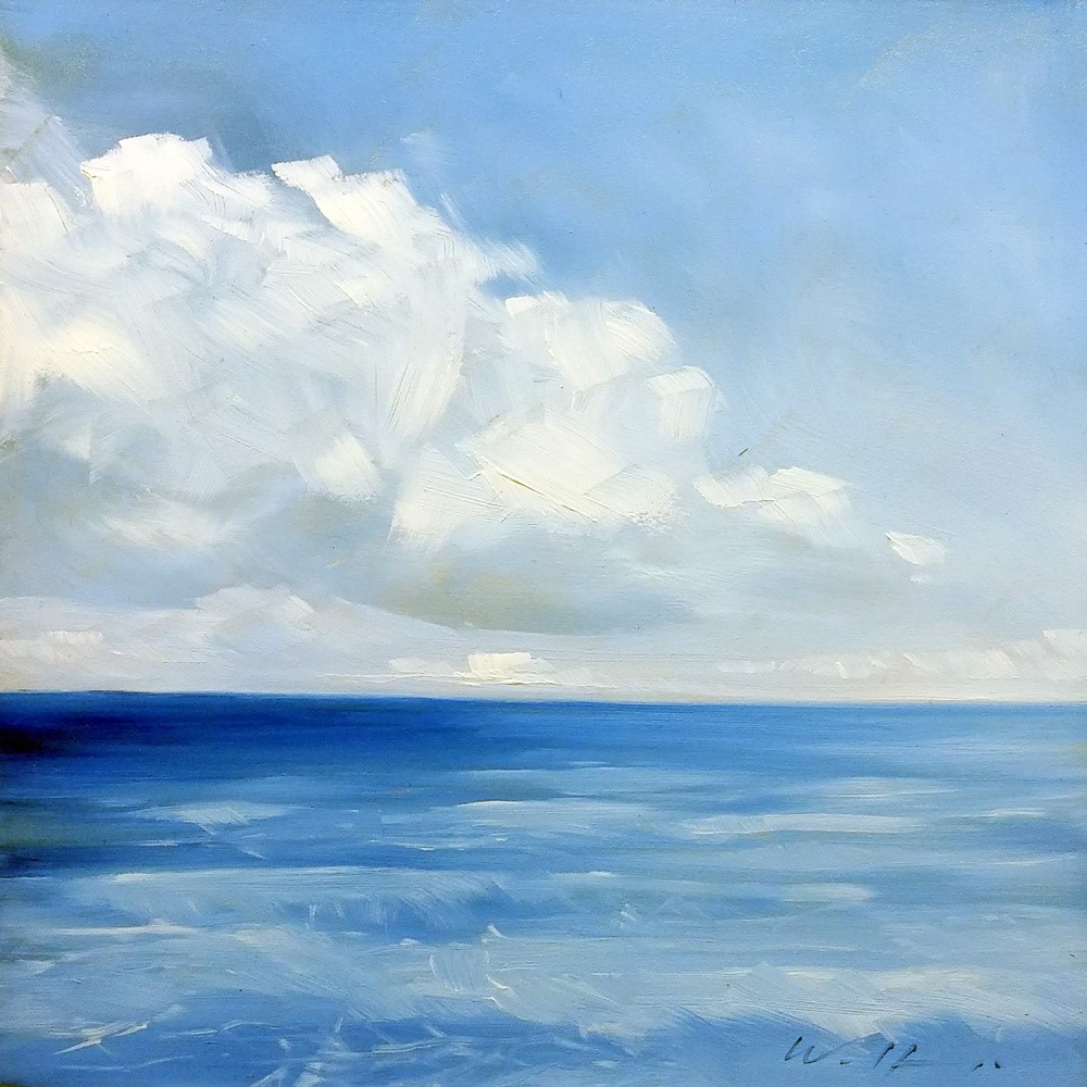 """""""Sea with Clouds"""" original fine art by Wolfango Chiappella"""
