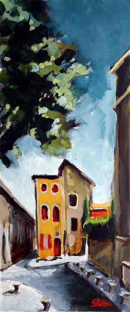 """""""1924 Semi-Detached House"""" original fine art by Dietmar Stiller"""