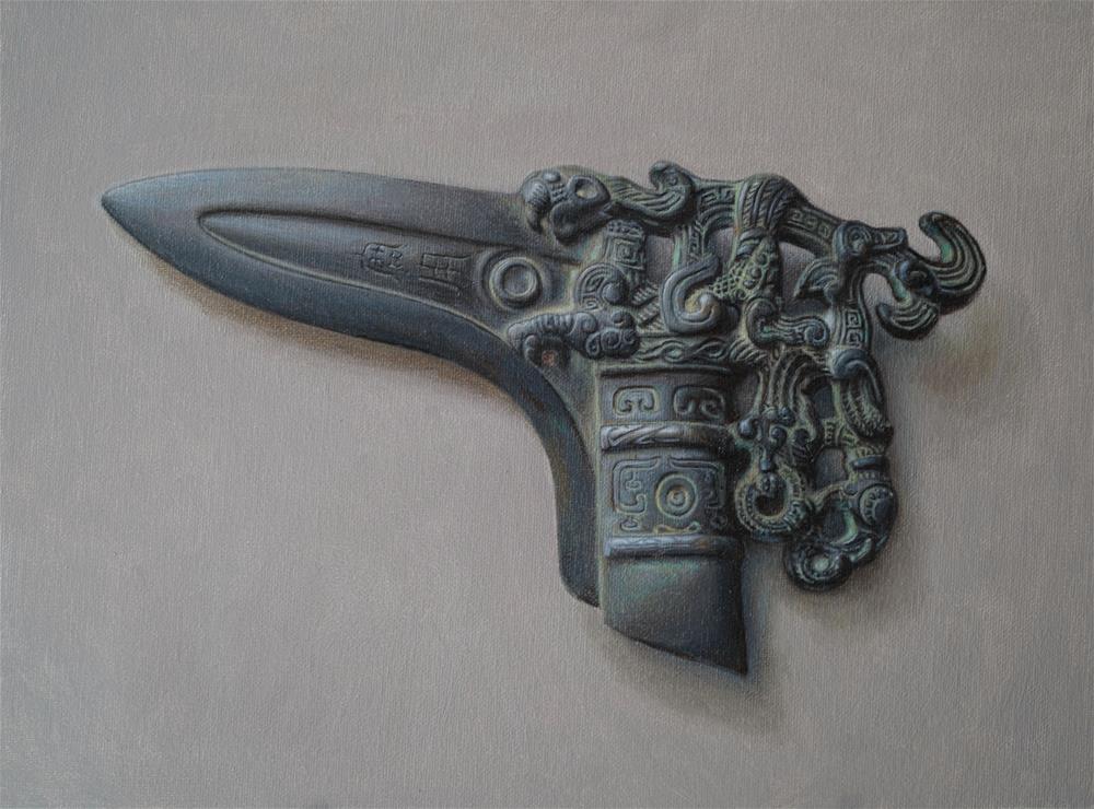 """The Sharp Challenge"" original fine art by Yuehua He"
