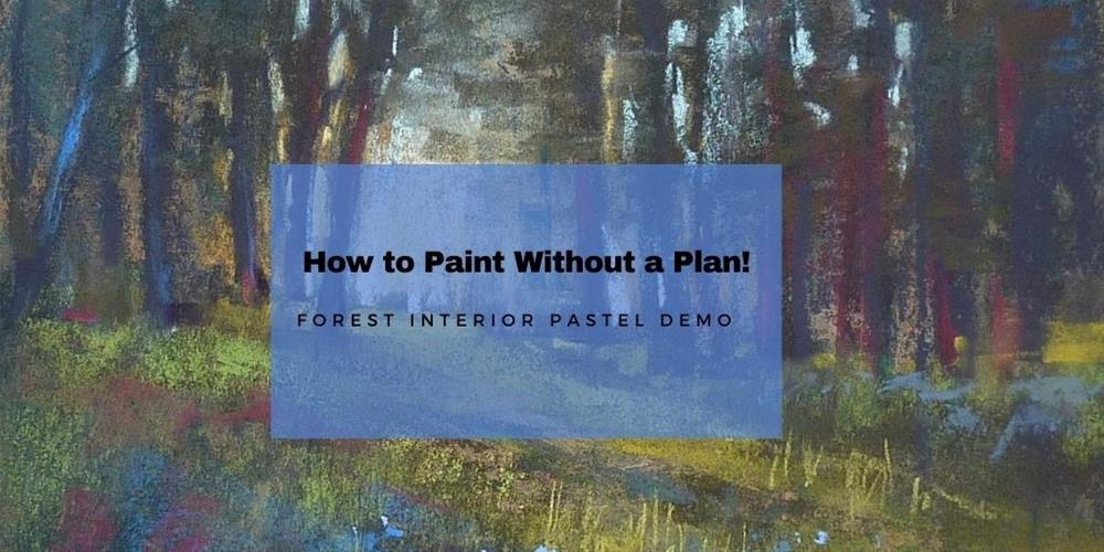 """""""New YouTube Video. How to Paint without a Plan!"""" original fine art by Karen Margulis"""