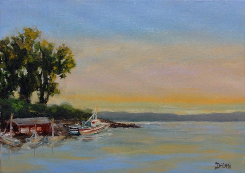 """Seneca Lake Sunset"" original fine art by Dalan Wells"