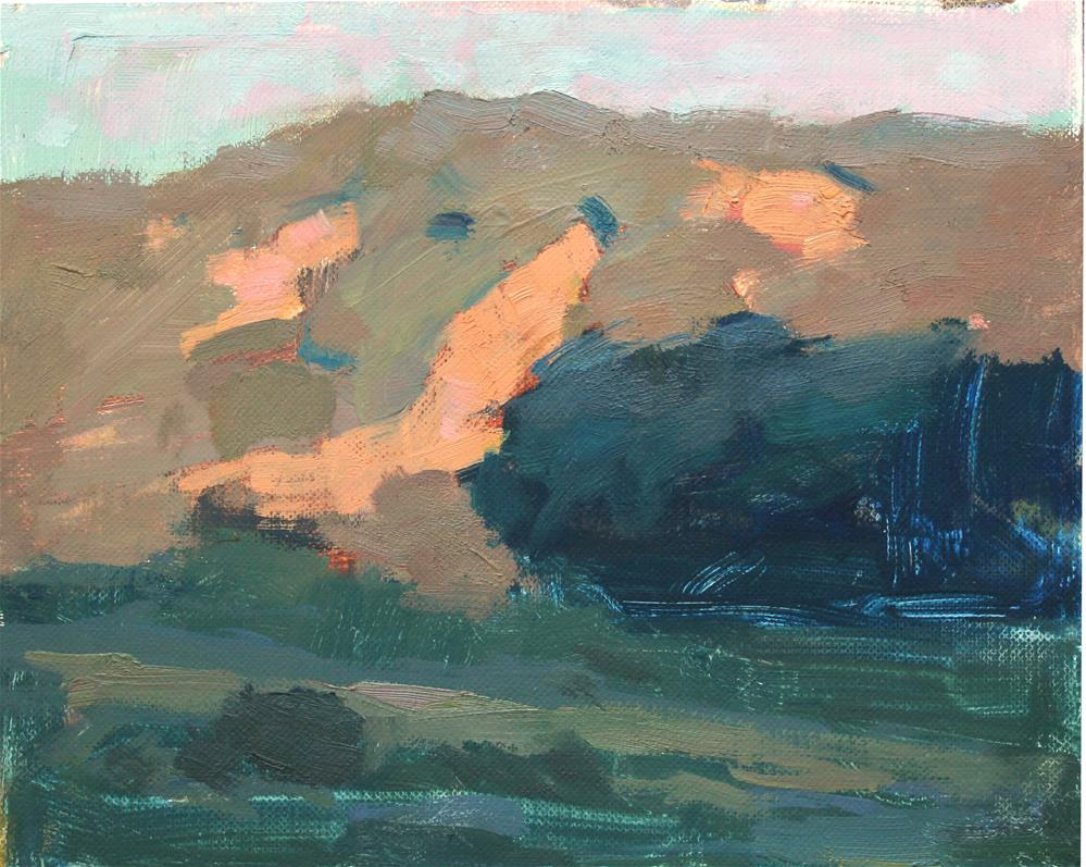 """California Hills at Sunrise"" original fine art by Kristian Matthews"