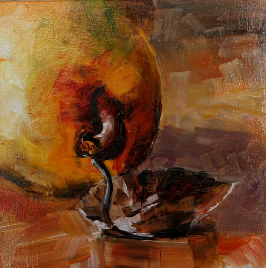 """Pear"" original fine art by Aniko Makay"