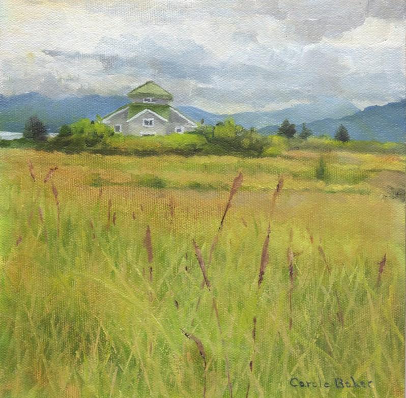 """House on the River"" original fine art by Carole Baker"