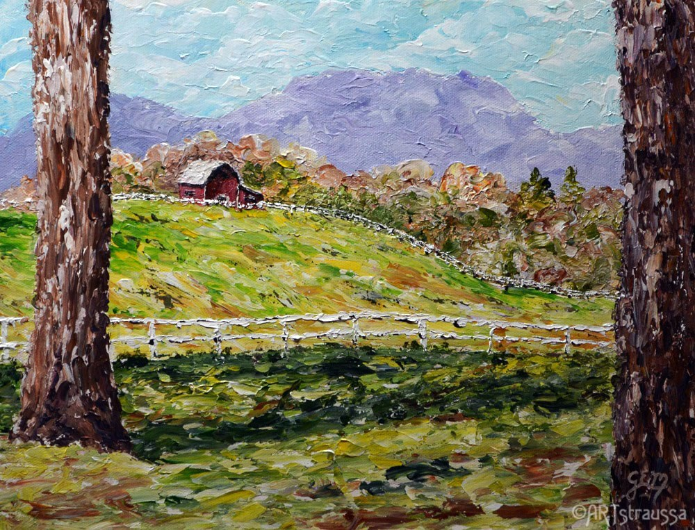 """Farm Over Yonder"" original fine art by Gloria Ester"