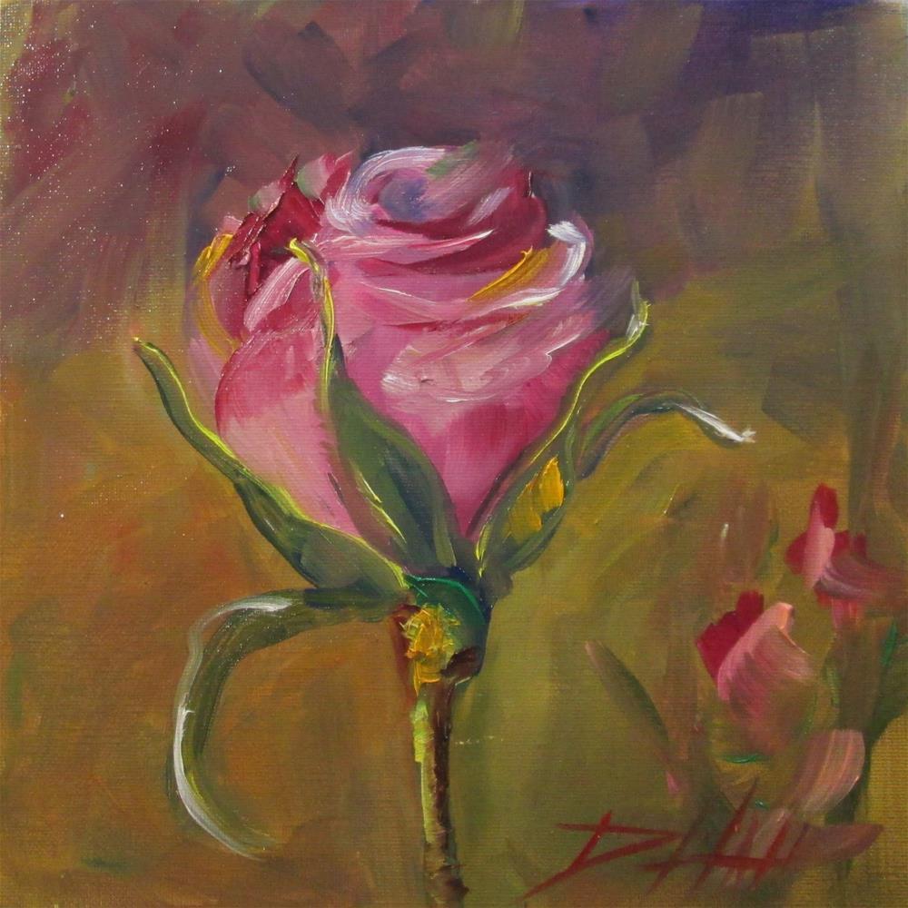 """Pink Rose"" original fine art by Delilah Smith"