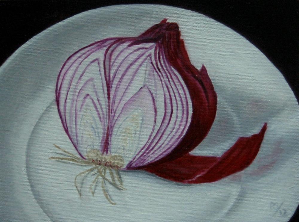 """""""Half a red Onion"""" original fine art by Pera Schillings"""