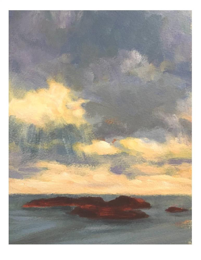 """""""Clouds, Light and God"""" original fine art by Suzanne Woodward"""