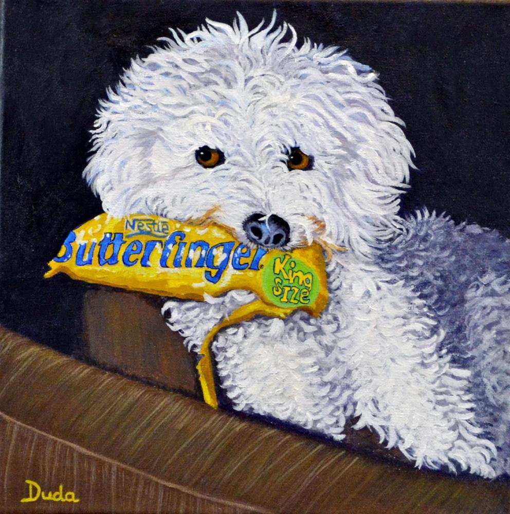 """""""The Thief"""" original fine art by Susan Duda"""