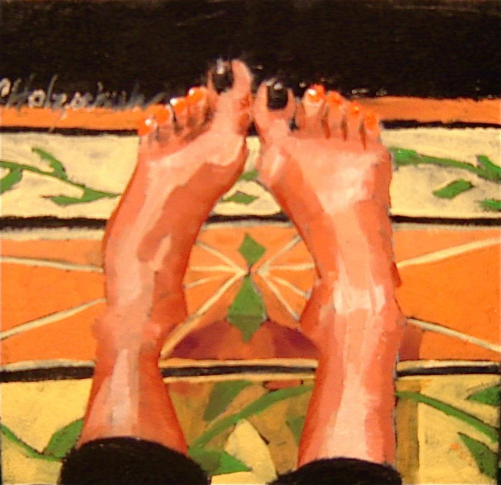 """At Home Feet"" original fine art by Christine Holzschuh"