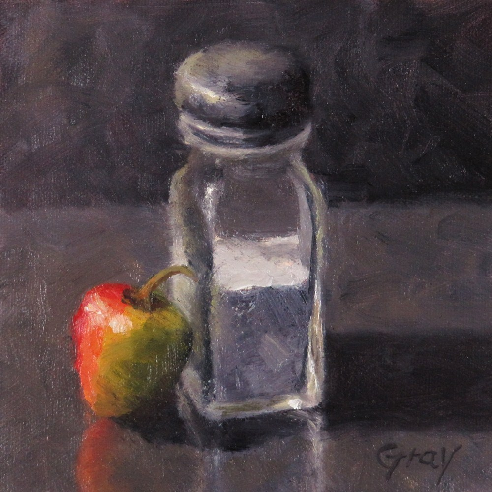 """Peppers in Black No.6 -- Salt & Pepper"" original fine art by Naomi Gray"