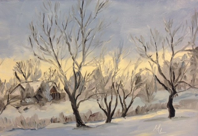 """Winter Light"" original fine art by Marjie Laizure"