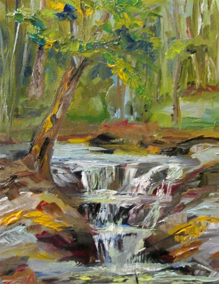 """""""Waterfall No.2"""" original fine art by Delilah Smith"""