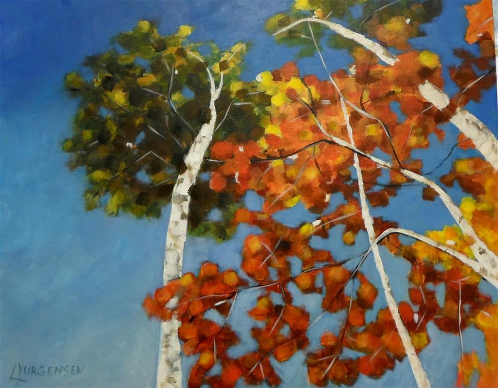 """20 x 16 inch acrylic Forest Series"" original fine art by Linda Yurgensen"