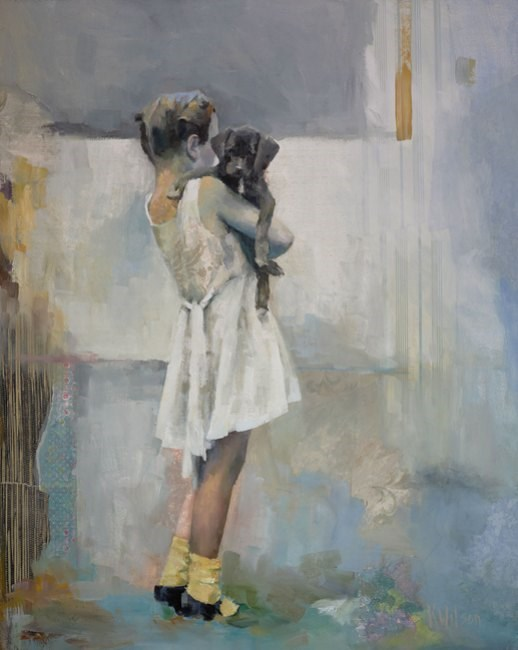 """""""The Puppy"""" original fine art by kaTiE wiLsON"""