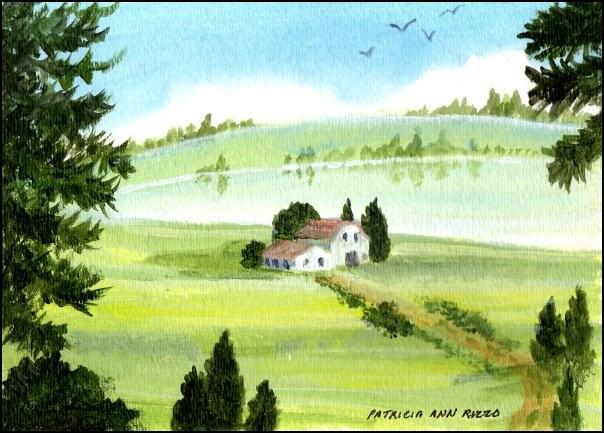 """A Quiet Summer Day"" original fine art by Patricia Ann Rizzo"
