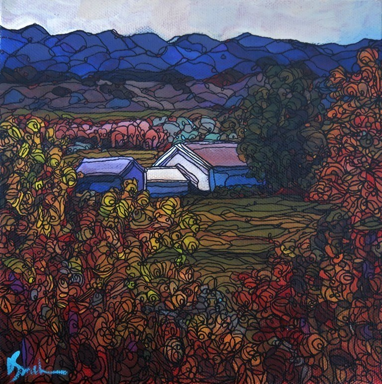 """147 HOMESTEAD"" original fine art by Dee Sanchez"