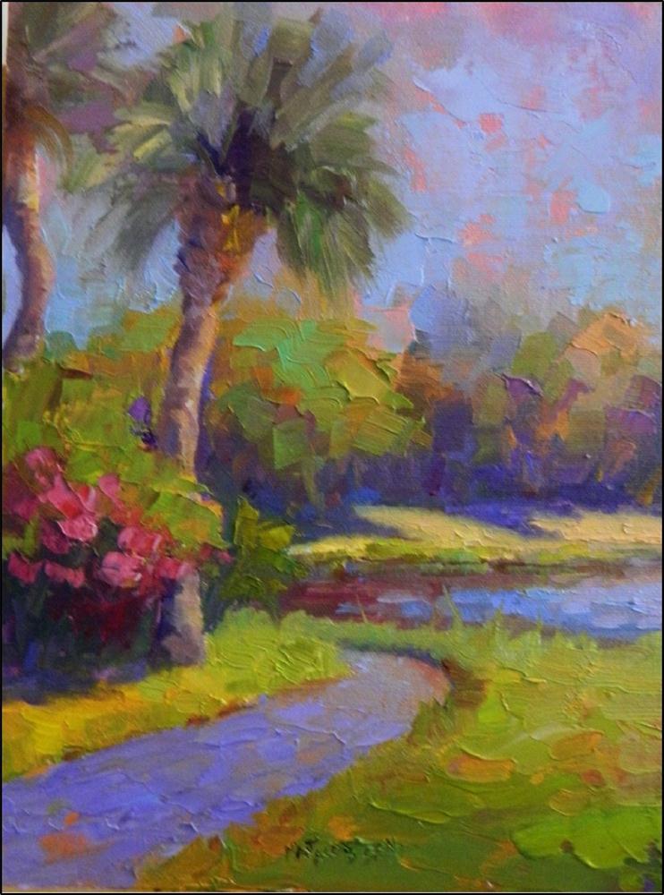 """Painting Intuitively- Lake Path, plein air, 9x12, right brain, alla prima"" original fine art by Maryanne Jacobsen"