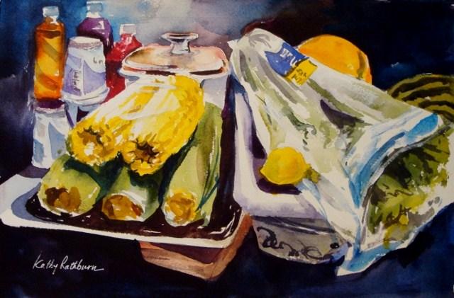 """""""Shelf Life"""" original fine art by Kathy Los-Rathburn"""