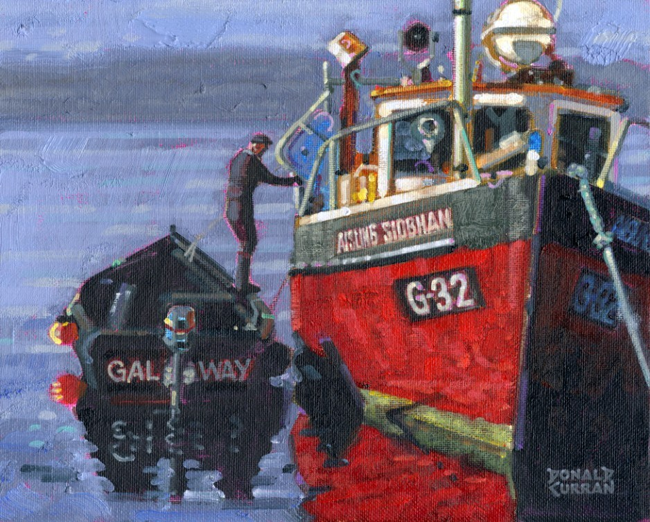 """Irish Fisherman"" original fine art by Donald Curran"