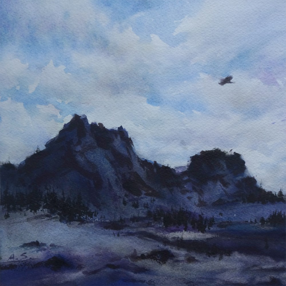 """Where the Eagle Flies -- Portrait of the Colorado Plateau, I"" original fine art by Arena Shawn"