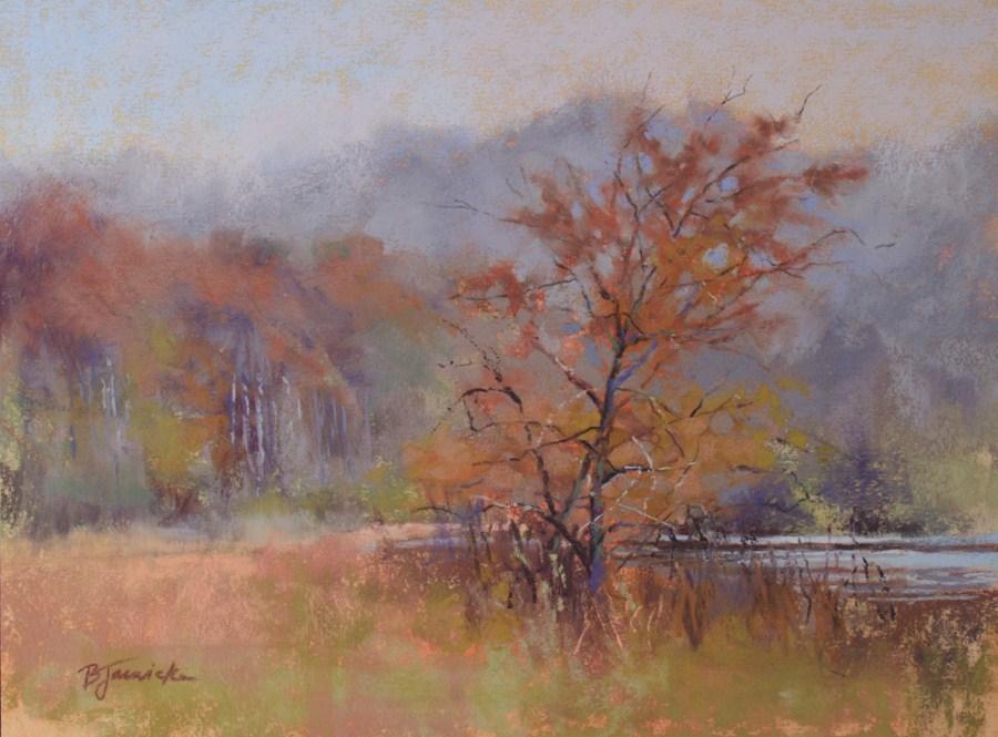"""""""October Mist"""" original fine art by Barbara Jaenicke"""