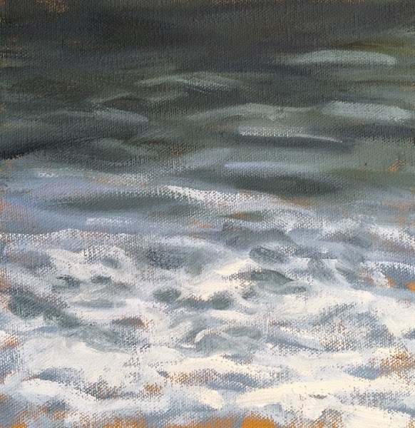 """Sea Foam"" original fine art by Deborah Newman"