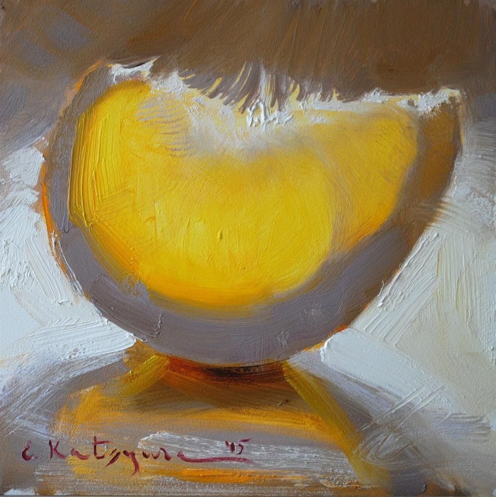 """""""Pomelo Slice"""" original fine art by Elena Katsyura"""