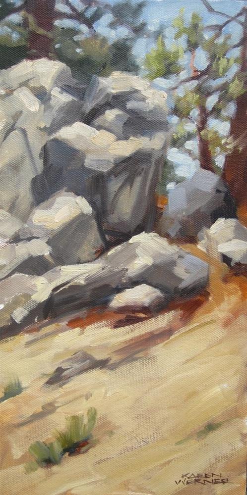 """""""Field Sketch, Idyllwild"""" original fine art by Karen Werner"""