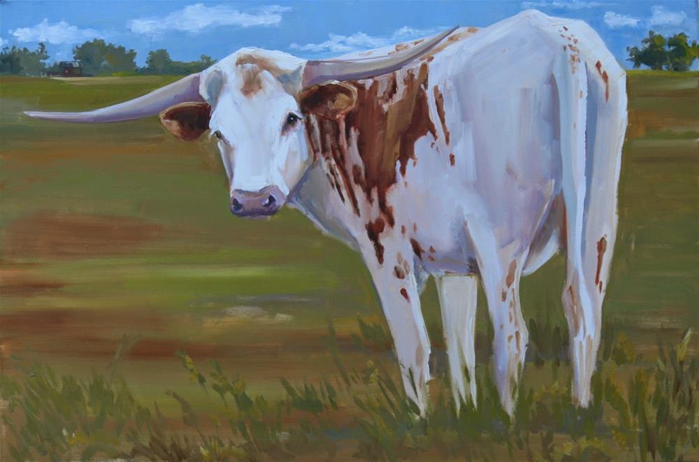 """horning in"" original fine art by Carol Carmichael"