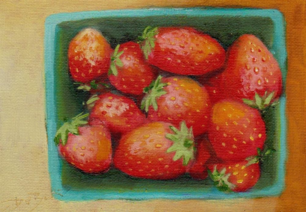 """strawberry"" original fine art by Mark DeBak"