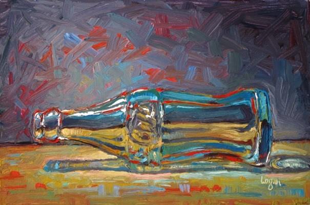 """Coca Cola Bottle Prostrate"" original fine art by Raymond Logan"