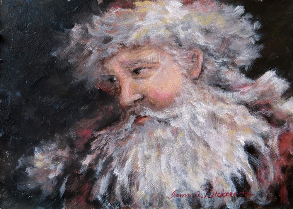 """""""Father Christmas 2015"""" original fine art by Tammie Dickerson"""