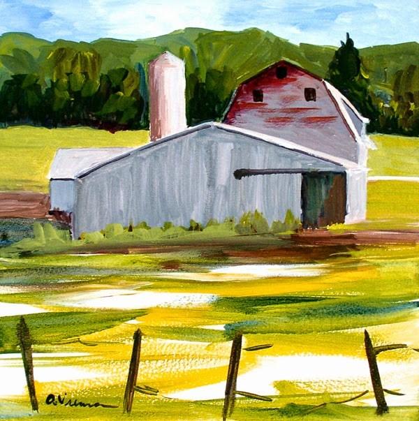 """""""Barn #10"""" original fine art by Anna Vreman"""