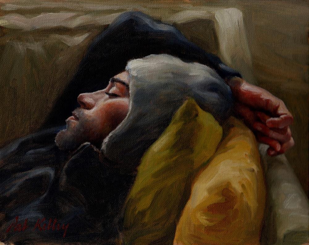 """Young Man Sleeping"" original fine art by Pat Kelley"