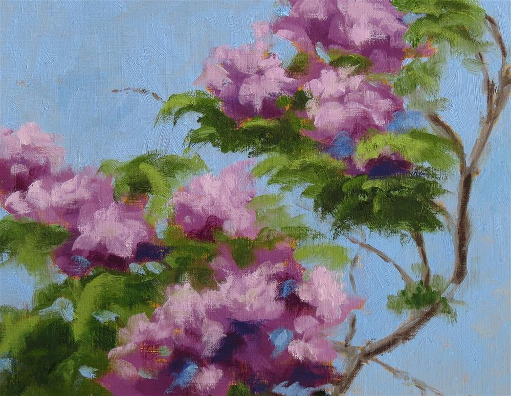 """Spring Lilacs"" original fine art by Pam Holnback"