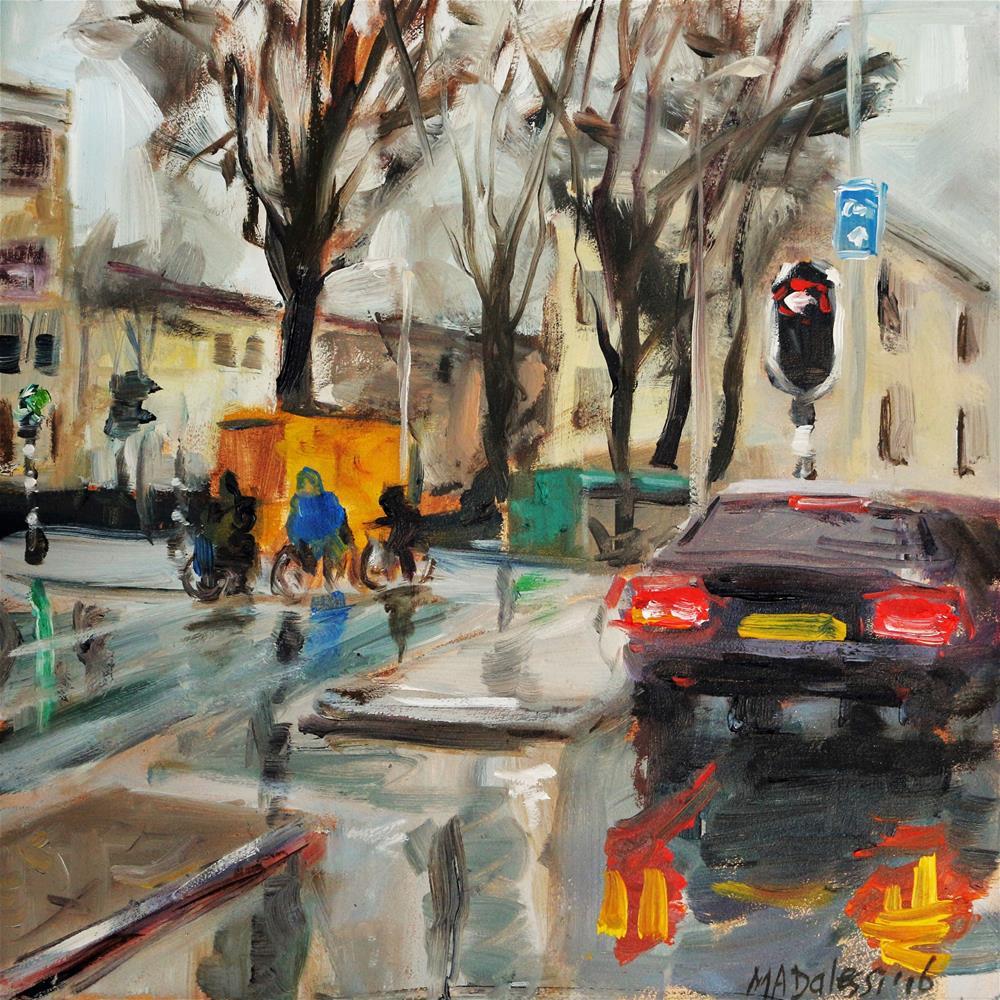"""a dry drivers view"" original fine art by Miranda Dalessi"