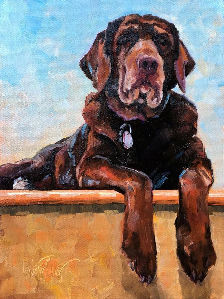 """Annie Lou"" original fine art by Kristy Tracy"