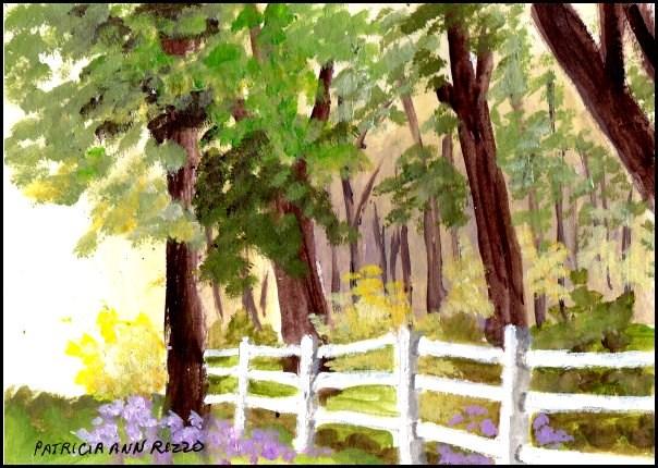 """""""Clean Country Air"""" original fine art by Patricia Ann Rizzo"""