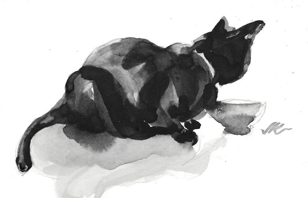 """Daily Cat 115"" original fine art by Jean Krueger"