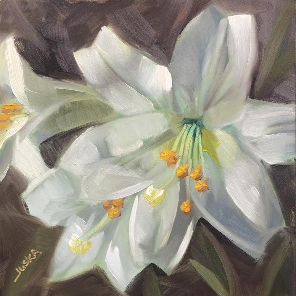"""""""Easter Lily #2"""" original fine art by Elaine Juska Joseph"""