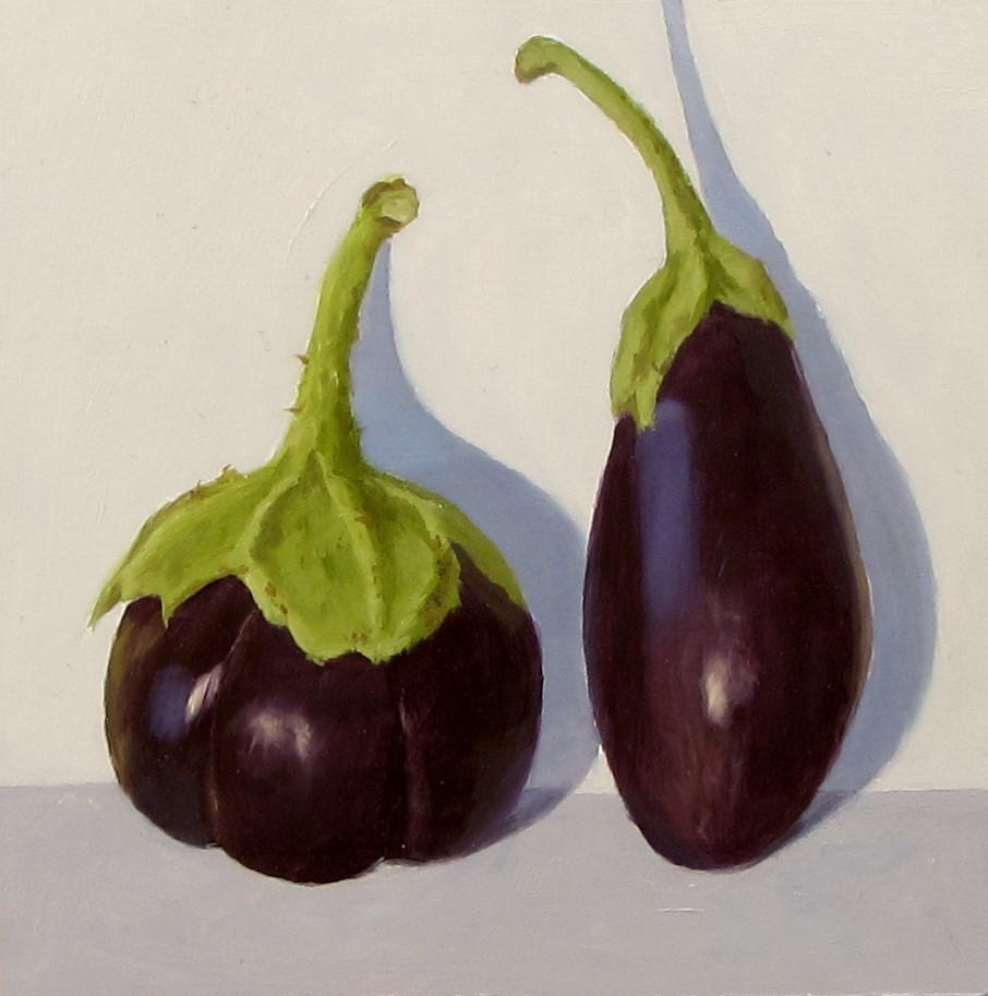 """Asian Eggplants"" original fine art by Karen Johnston"
