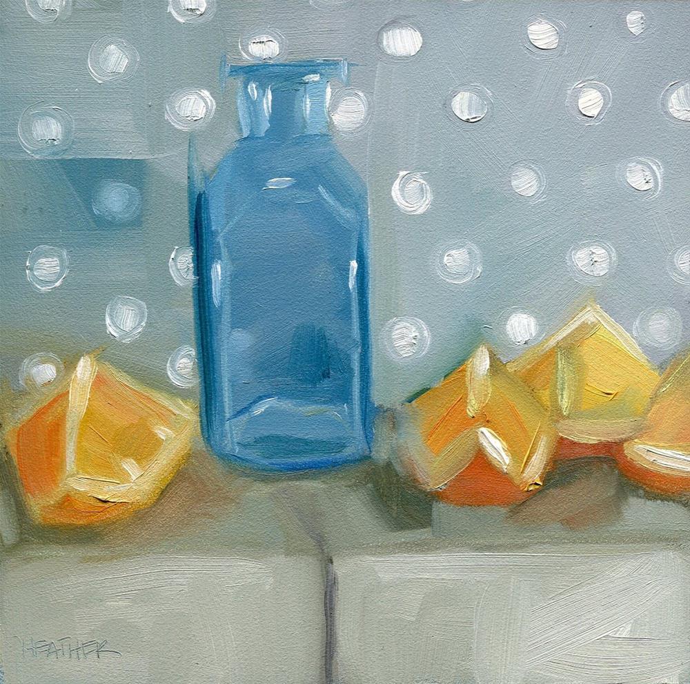 """""""Milling Around"""" original fine art by Heather Bennett"""
