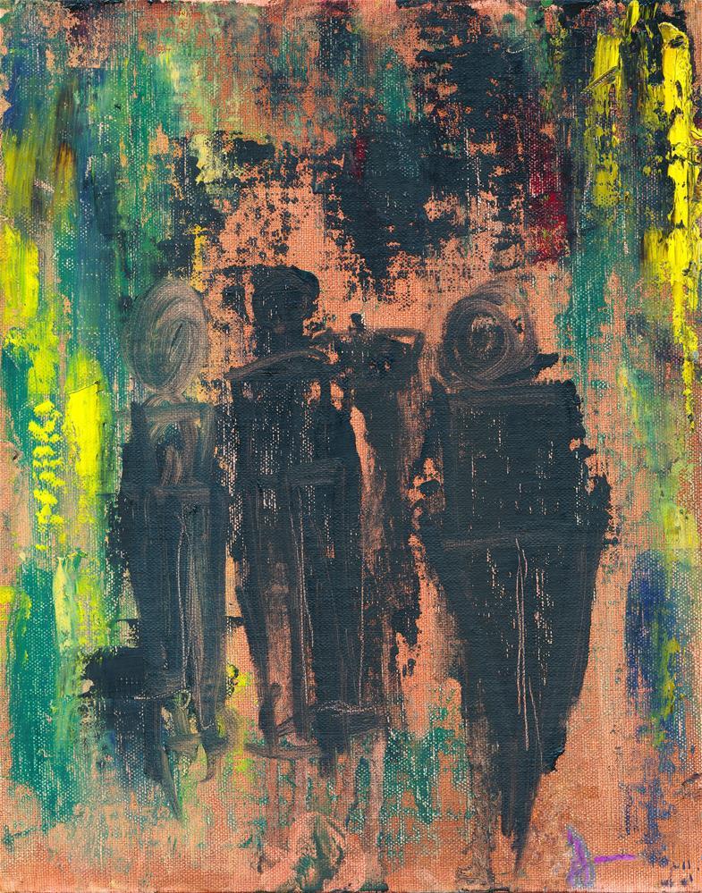"""Main St After Hours"" original fine art by Janet Gunderson"
